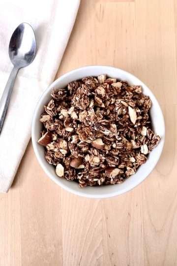 Granola au chocolat et beurre d'arachide