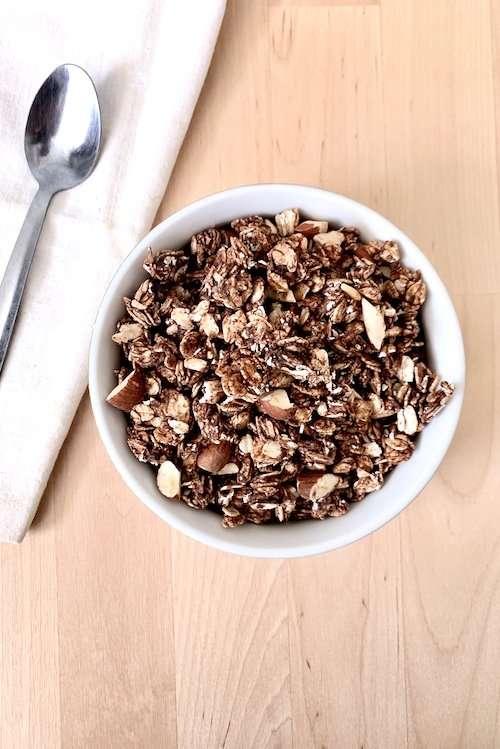 Granola au chocolat et beurre d'arachide vegan