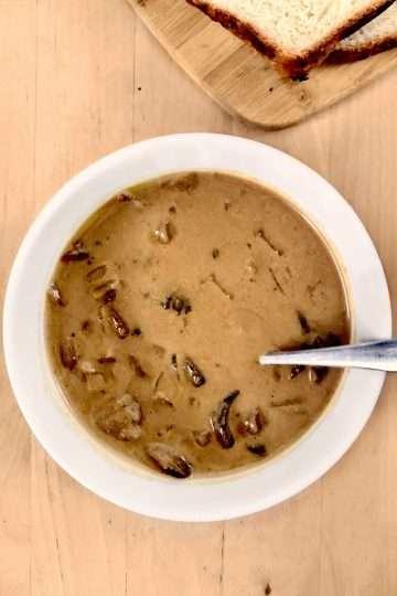 Soupe hongroise aux champignons vegan