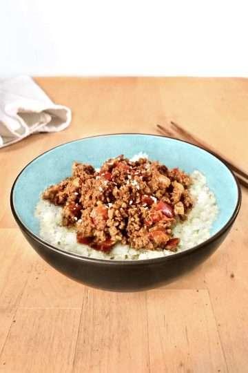 Bœuf coréen à la protéine végétale texturée