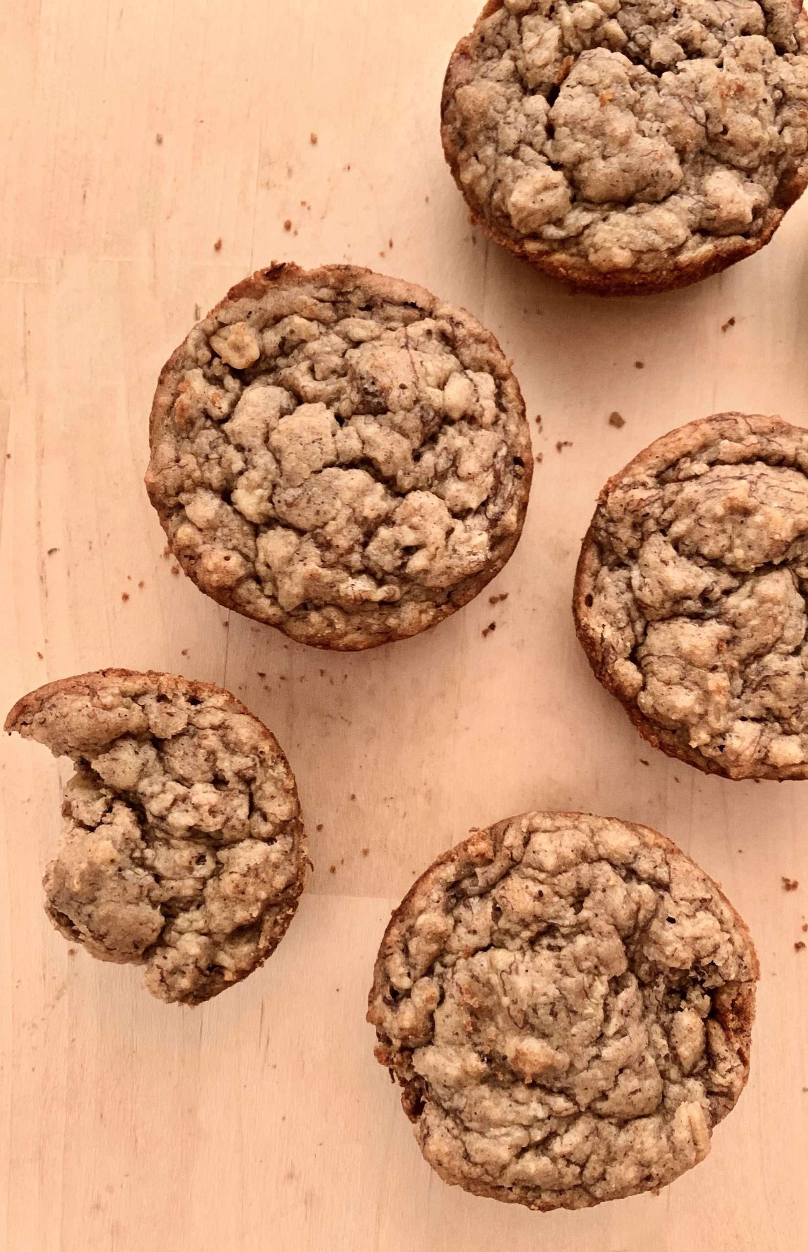 Muffins aux bananes santé et vegan