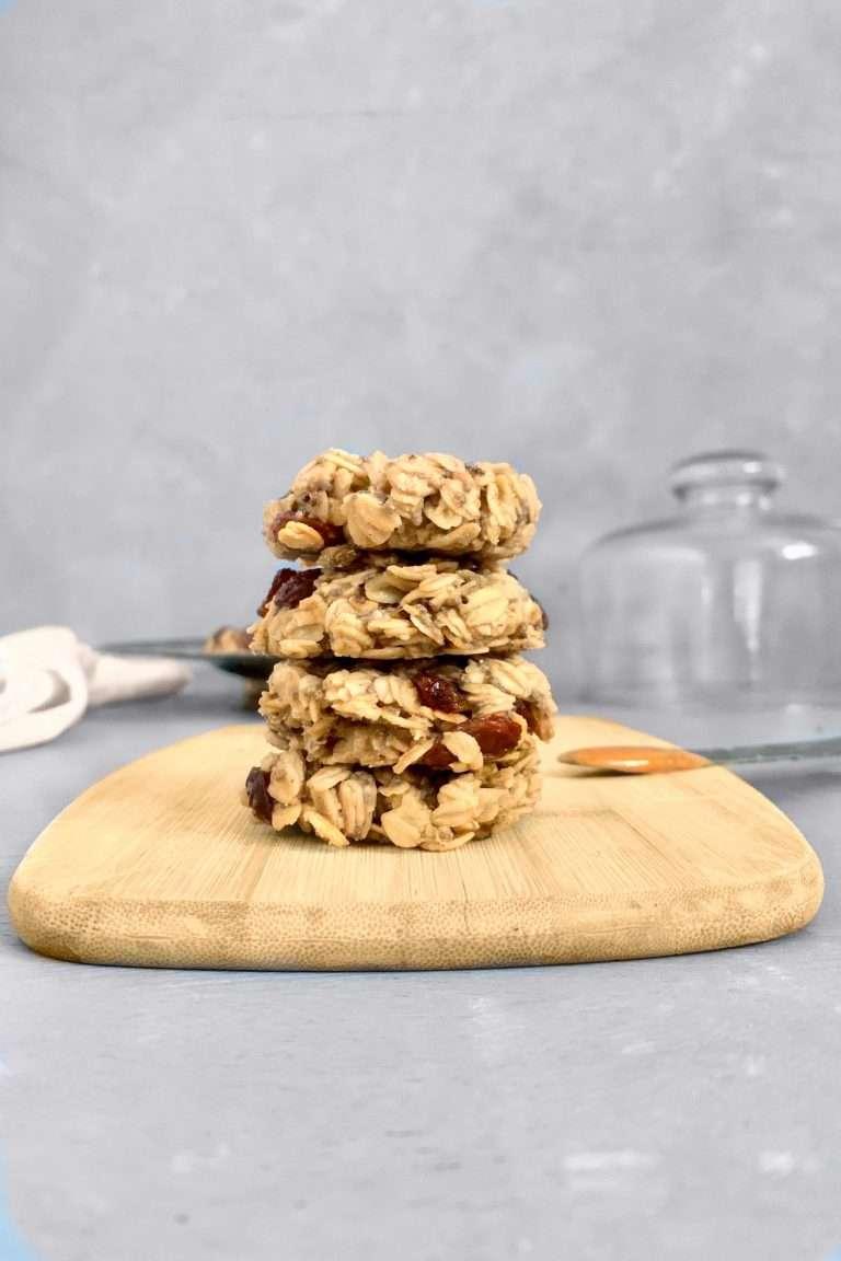 Biscuits aux raisins, tahini et beurre d'arachides vegan