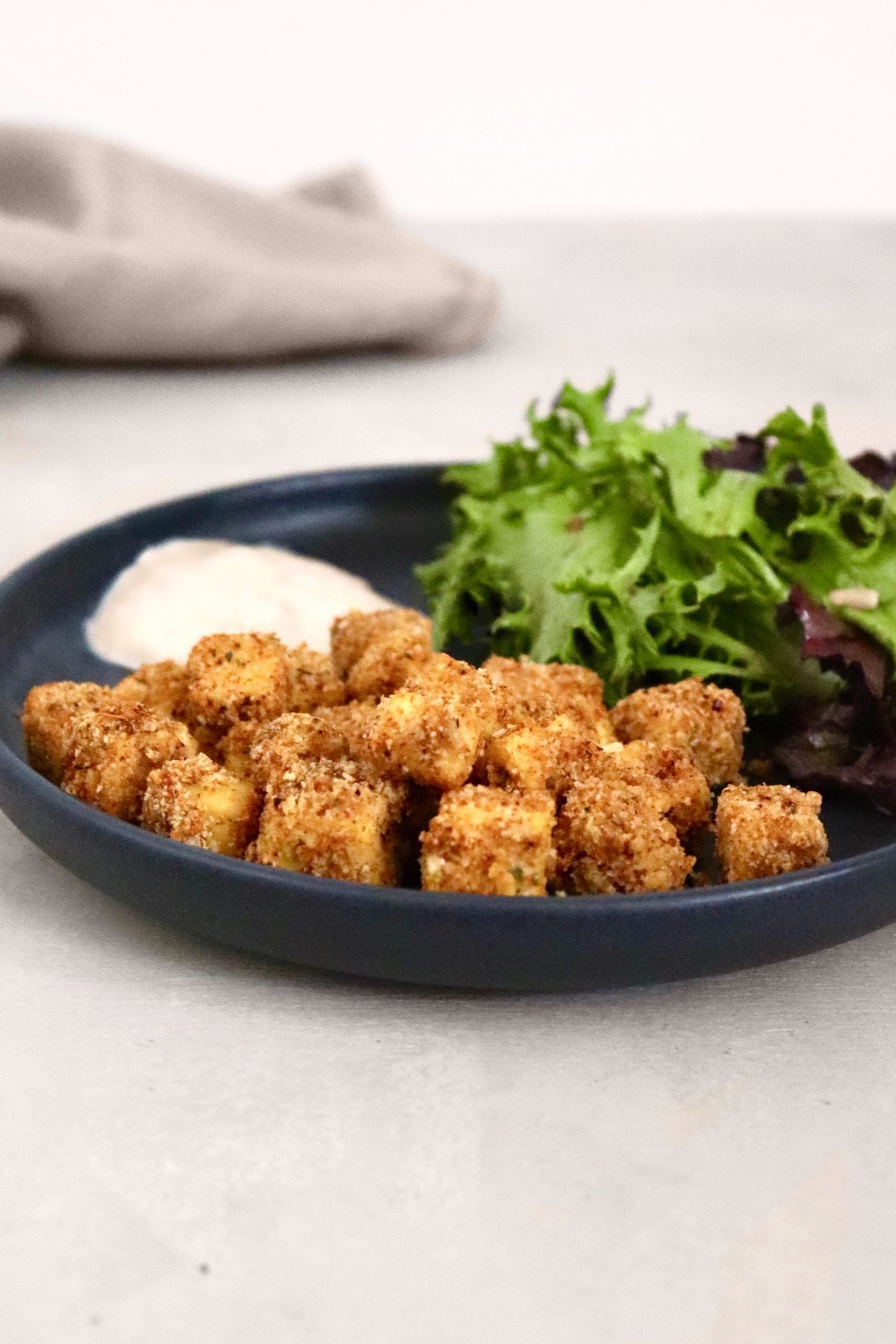 Vegan Crispy Cajun Tofu