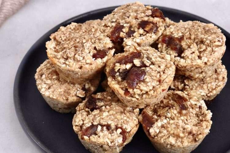 Muffins bananes et dattes vegan