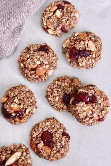 Biscuits santé aux canneberges et amandes vegan