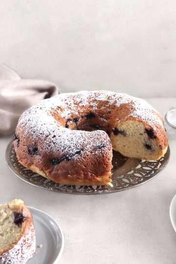 Gâteau Bundt aux bleuets et au citron vegan