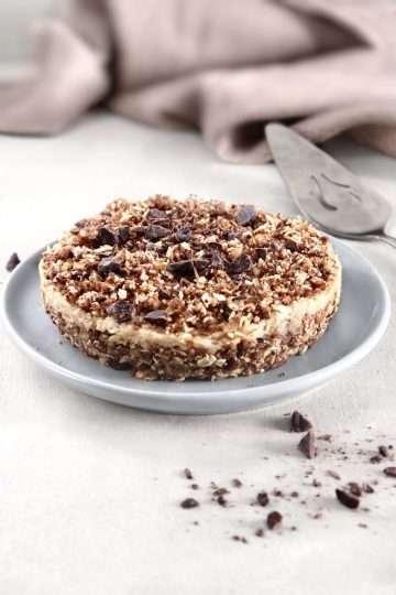 Gâteau cru à la crème de cajou et aux amandes vegan