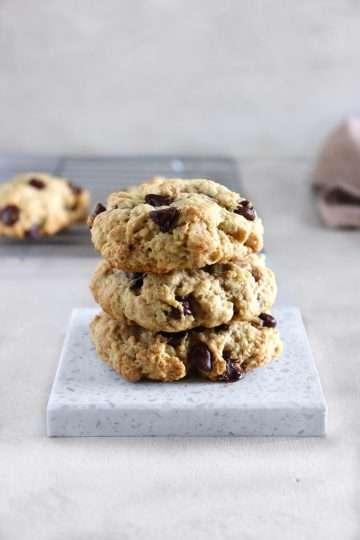 Biscuits aux brisures de chocolat vegan (style Levain Bakery)