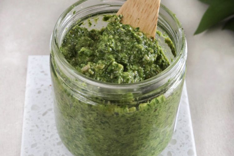 Pesto de coriandre vegan