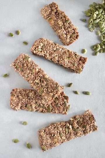 Barres granola santé et vegan