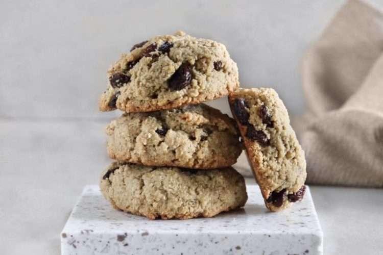 Biscuits à l'avoine et aux raisins vegan