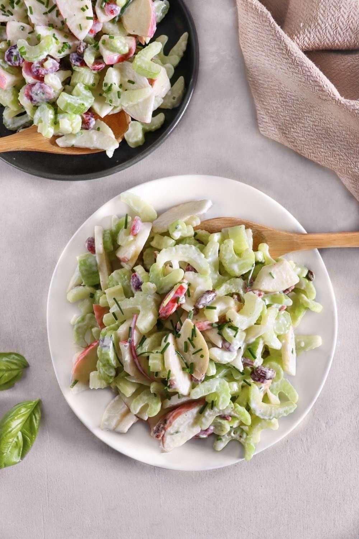 Salade crémeuse de céleri et pommes