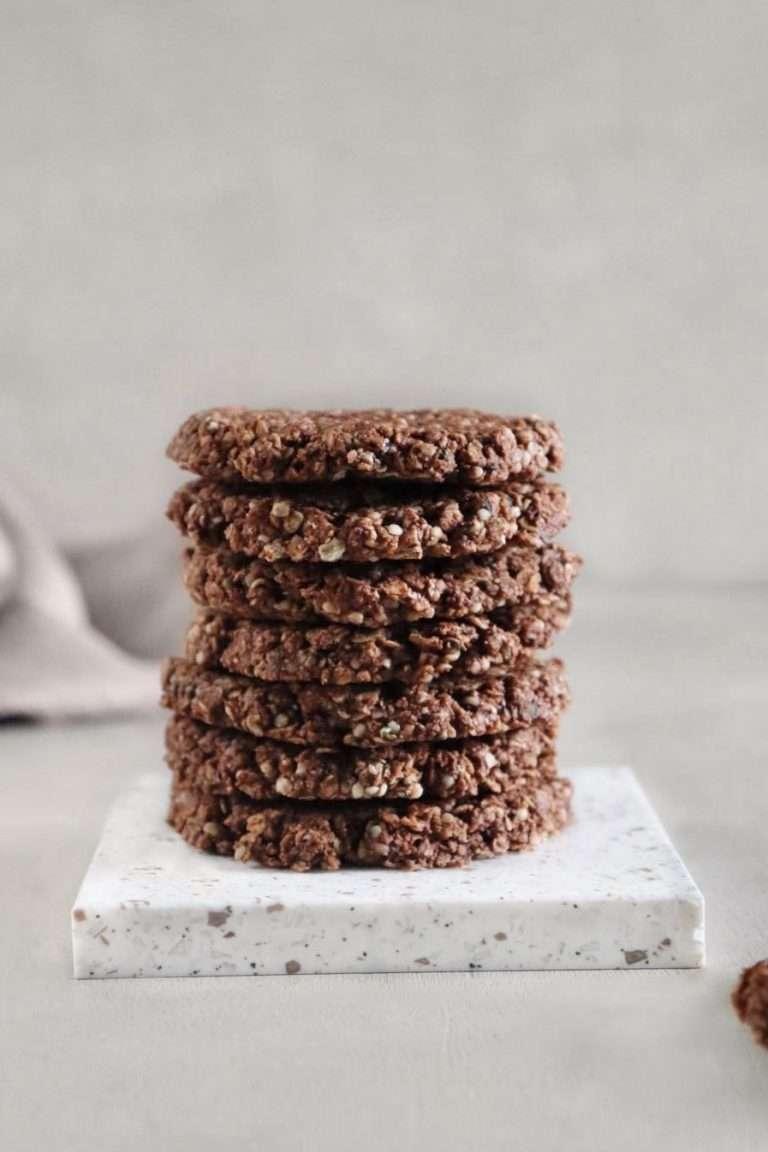 Biscuits à l'avoine et au chocolat vegan